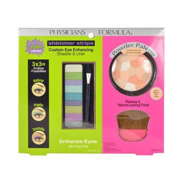 Physicians Formula Enhance Eyes Kit 16,5gr: 7,5gr Custom Eye Enhancing Shadow & Liner & 9gr Multi-Colored Pressed Powder & Brush