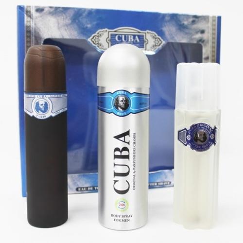 SET CUBA ORIGINAL Cuba Blue EDT 100ml + DEO 200ml + AS 100ml