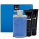 Dunhill Desire Blue Eau De Toilette 100ml & Shower Gel 90ml & Shaving Balm 90ml & Cosmetic Bag