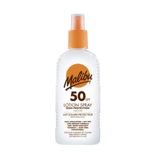Malibu Lotion Spray Sun Body Lotion 200ml Waterproof Spf50