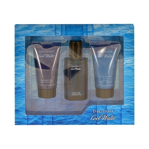 Davidoff Cool Water Eau De Toilette 40Ml - Set: Eau De Toilette 40Ml & 50Ml Shower Gel & 50Ml After Shave Balm