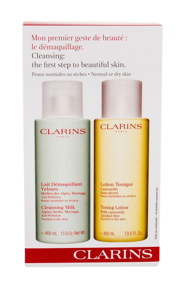 Clarins Cleansing Milk With Alpine Herbs Cleansing Milk 400ml Combo Cleansing Mi oμορφια   μαλλιά   αξεσουάρ μαλλιών   σετ περιποίησης μαλλιών
