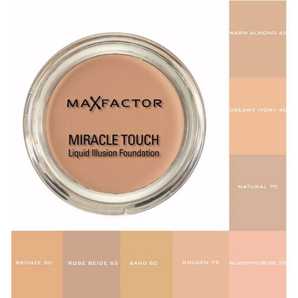Max Factor Miracle Touch Liquid Illusion Foundation 11,5gr 80 Bronze