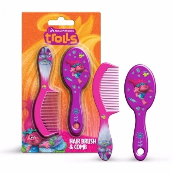 Dreamworks Trolls Hairbrush 1pc Combo: Hairbrush 1 Pc + Comb 1 Pc oμορφια   μαλλιά   αξεσουάρ μαλλιών   βούρτσες   χτένες