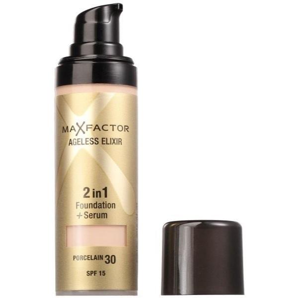 Max Factor Ageless Elixir 2in1 Foundation + Serum Makeup 30ml Spf15 30 Porcelain
