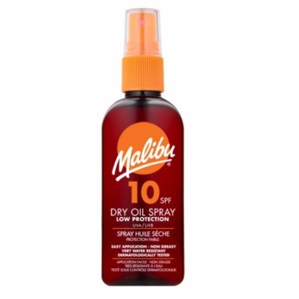 Malibu Dry Oil Spray Sun Body Lotion 100ml Waterproof Spf10 oμορφια   αντηλιακή προστασία   αντηλιακά σώμα πρόσωπο   αντηλιακά