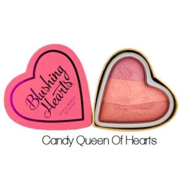 MAKEUP REVOLUTION Triple Baked Blusher Blushing Hearts Candy Queen Of Hearts 10g