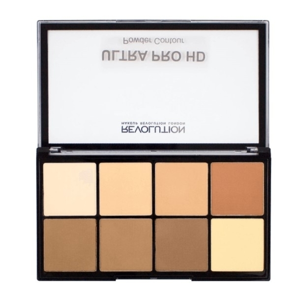 Make Up Revolution London Ultra Pro Hd Powder Contour Palette 20gr Medium Dark
