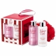 Grace Cole Frosted Cherry Vanilla Beautiful Cleansing Kit 100ml For Fresh And Hydrated Skin - Set Shower Gel Cleanse 100ml + Body Lotion Nourish 100ml + Sponge