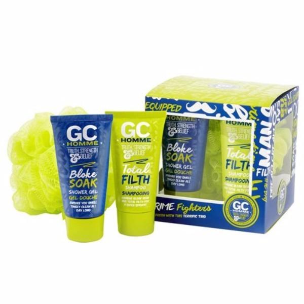 Grace Cole Homme Sport Grime Fighters 50ml For Fresh Skin - Set Shower Gel Bloke oμορφια   μαλλιά   αξεσουάρ μαλλιών   σετ περιποίησης μαλλιών