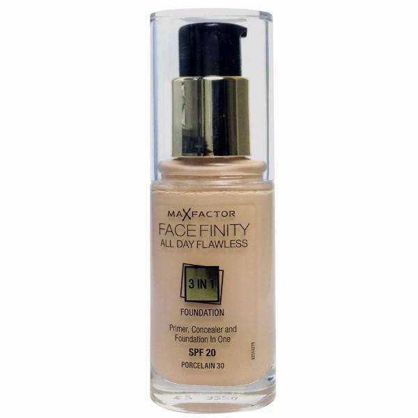 MAX FACTOR Facefinity All Day Flawless 3in1 Foundation SPF20 30 Porcelain 30ml