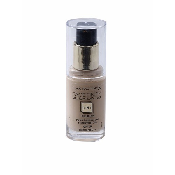 MAX FACTOR Facefinity All Day Flawless 3in1 Foundation SPF20 33 Crystal Beige 30ml