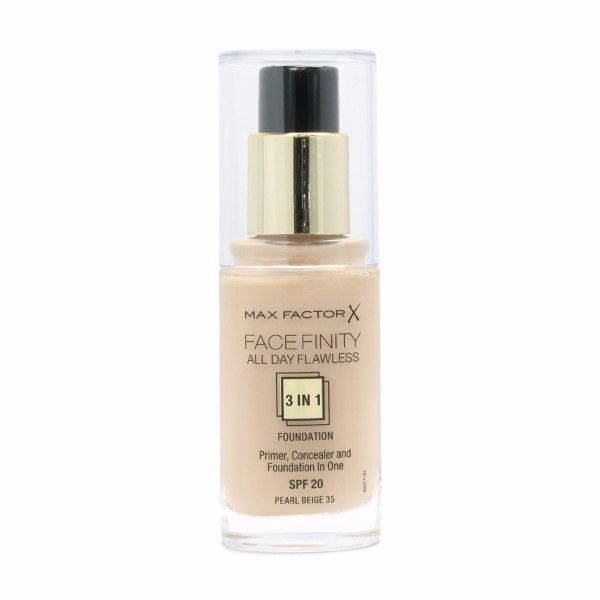 MAX FACTOR Facefinity All Day Flawless 3in1 Foundation SPF20 35 Pearl Beige 30ml