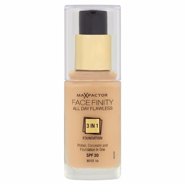 MAX FACTOR Facefinity All Day Flawless 3in1 Foundation SPF20 55 Beige 30ml