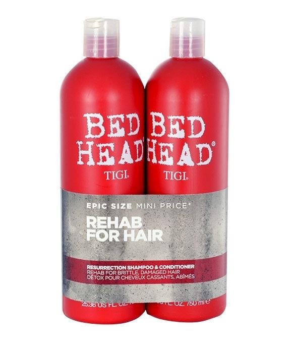 Tigi Bed Head Resurrection Shampoo 750ml Combo: 750ml Bed Head Resurrection Shampoo + 750ml Bed Head Resurrection Conditioner (Weak Hair)