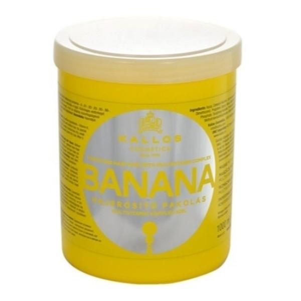 KALLOS Banana Fortifying Hair Mask With Multivitamin Complex bananowa maska wzmacniajaca do wlosow z kompleksem multiwitamin 1000ml