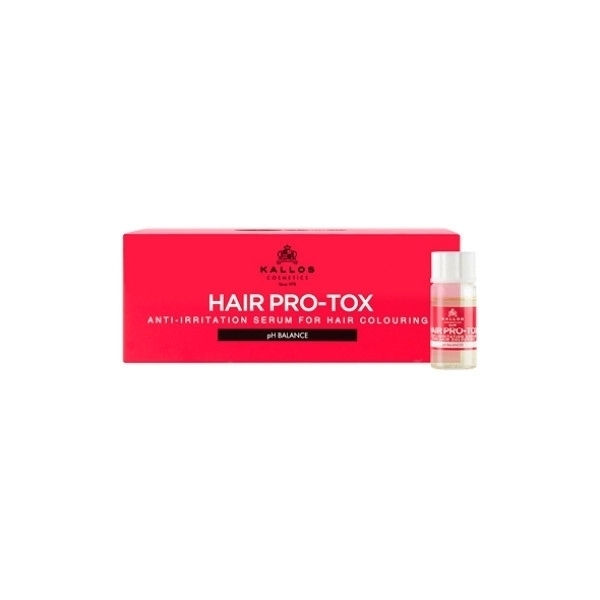 KALLOS Hair Pro-Tox Hair Anti-Irritation Serum For Hair Coloruing serum do farbowania wlosow 12x10ml