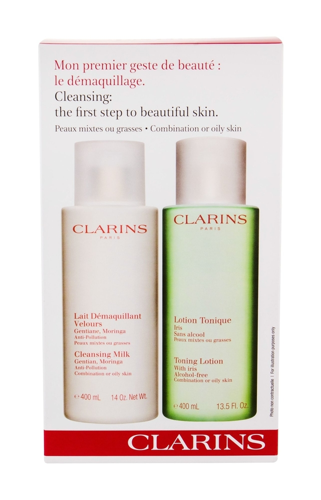 Clarins Cleansing Milk With Gentian Cleansing Milk 400ml Combo Cleansing Milk 40 oμορφια   μαλλιά   αξεσουάρ μαλλιών   σετ περιποίησης μαλλιών