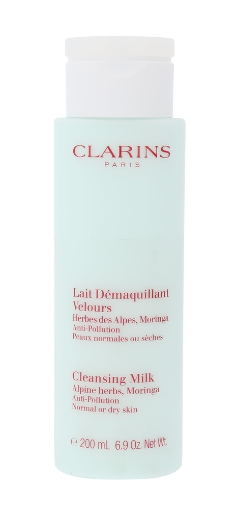 Clarins Anti-pollution Cleansing Milk With Alpine Herbs Cleansing Milk 200ml (Normal - Dry)