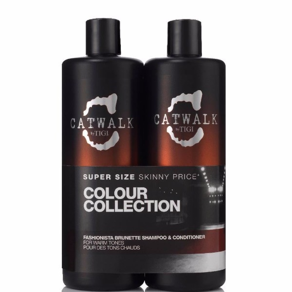 Tigi Catwalk Fashionista Brunette Shampoo 750ml Combo: 750ml Catwalk Fashionista Brunette Shampoo + 750ml Catwalk Fashionista Brunette Conditioner