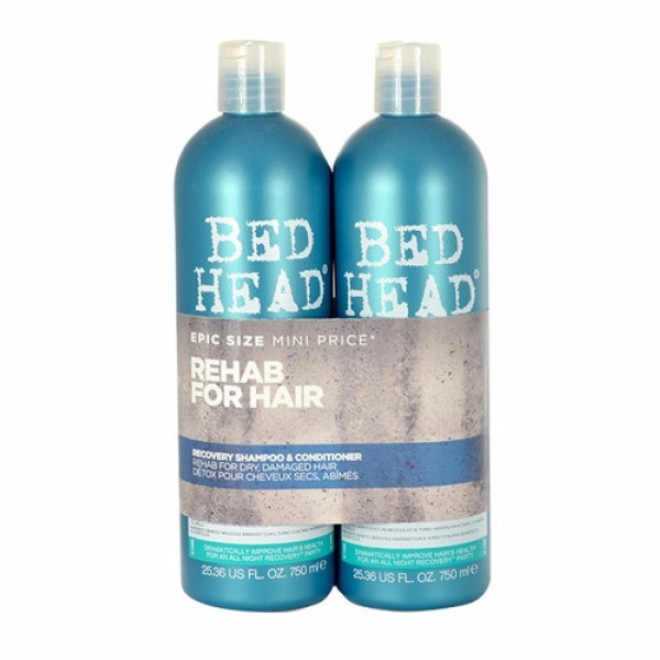 Tigi Bed Head Recovery Shampoo 750ml Combo: 750ml Bed Head Recovery Shampoo + 750ml Bed Head Recovery Conditioner (Damaged Hair)