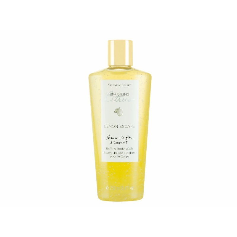 Victoria Secret Lemon Escape Body Wash 250ml Sparkling Citrus - Lemon Sugar & Coconut