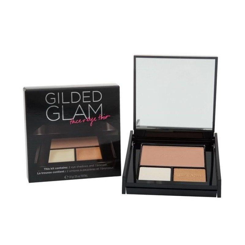 Victoria Secret Gilded Glam Eye & Face Trio 10gr : 2 Eyeshadows & 1 Bronzer