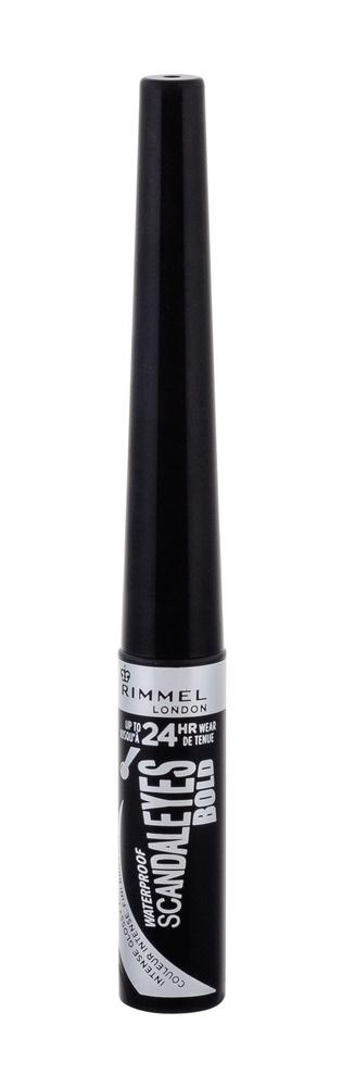 Rimmel London Scandal Eyes Bold Eye Line 2,5ml Waterproof Black (Liquid)