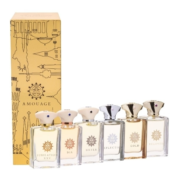 Amouage Mini Set Classic Collection Eau De Parfum 45ml Combo: 6x7,5 Ml Edp Gold + Dia + Silver + Reflection + Jubilation Xxv + Beloved