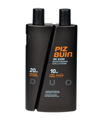 Piz Buin In Sun Sun Body Lotion 300ml Duo Spf10 + Spf20