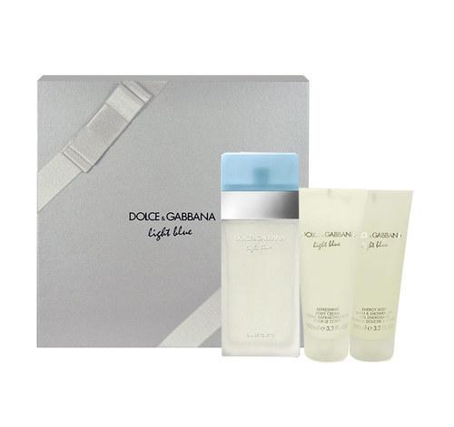 Dolce & Gabbana Light Blue Eau De Toilette 100ml & 100ml Body Cream & 100ml Shower Gel