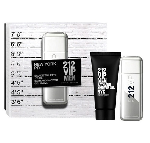 Carolina Herrera 212 Vip Men Eau De Toilette 100ml Combo: Edt 100ml + 100ml Shower Gel