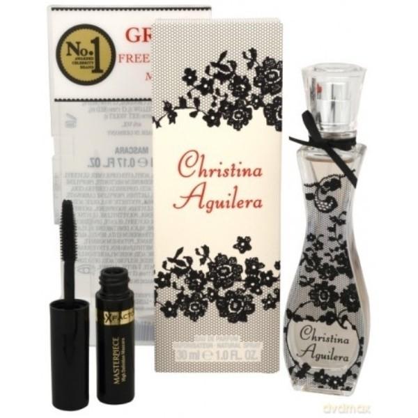 Christina Aguilera Eau De Parfum 30ml Combo: Edp 30ml + 5,3ml Mascara Max Factor oμορφια   αρώματα   αρώματα γυναικεία