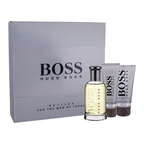 Hugo Boss Boss Bottled Eau De Toilette 100ml Combo: Edt 100ml + 75ml After Shave Balm + 50ml Shower Gel