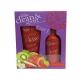 Grace Cole Fruit Works Clean Spritz 100ml For Fresh Skin - Set Shower Gel Strawberry Kiwi 100ml + Body Spray Strawberry Kiwi 100ml