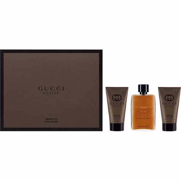 Gucci Guilty Absolute Pour Homme Eau De Parfum 50ml Combo: Edp 50 Ml + Aftershave Balm 50 Ml + Shower Gel 50 Ml