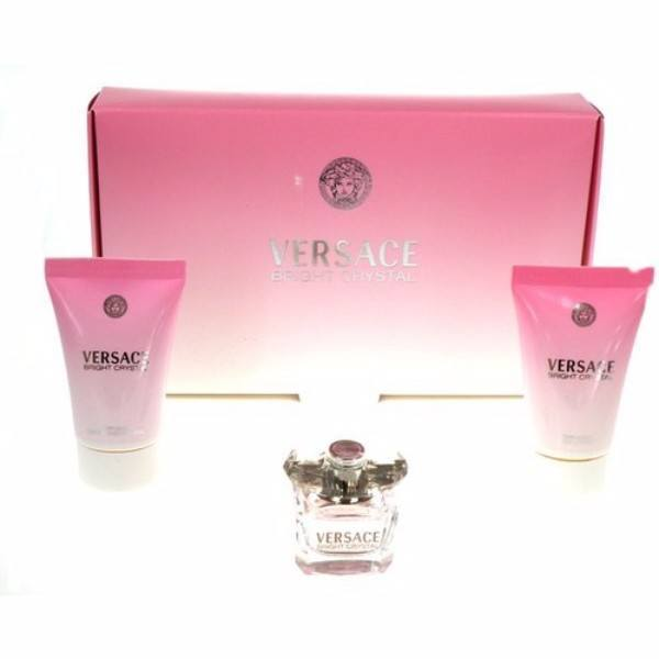 Versace Bright Crystal Eau De Toilette 5ml & 25ml Body Lotion & 25ml Shower Gel