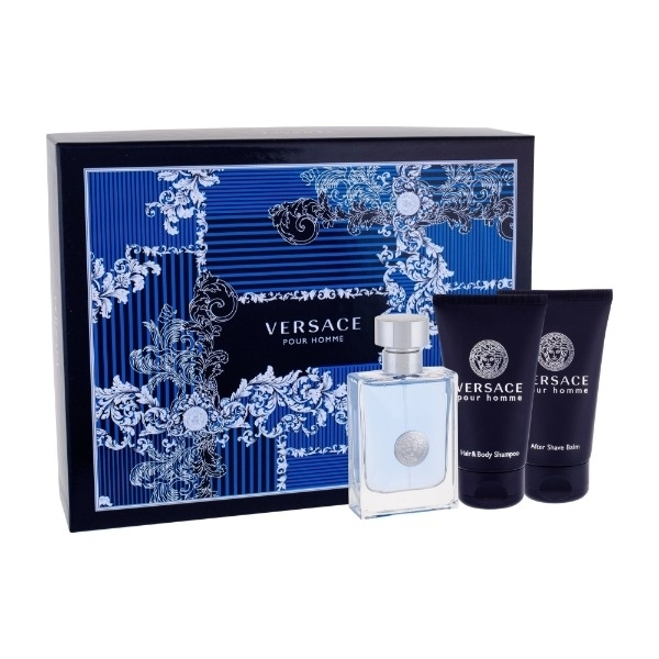 Versace Pour Homme Eau De Toilette 50ml Combo: Edt 50ml + 50ml Shower Gel + 50ml After Shave Balm