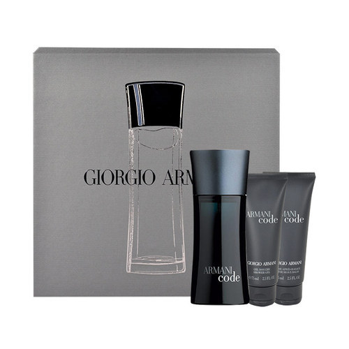 Giorgio Armani Code Eau De Toilette 75ml & 75ml After Shave Balm & 75ml Shower Gel