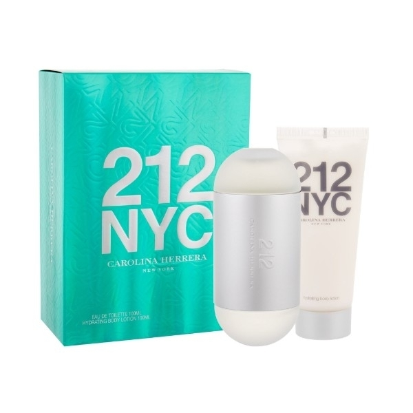 Carolina Herrera 212 Nyc Eau De Toilette 100ml Combo: Edt 100ml + 100ml Body Lotion