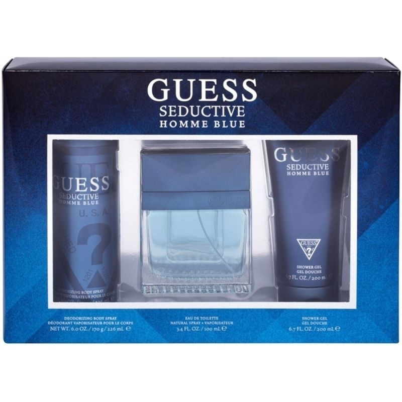 Guess Seductive Homme Blue Eau De Toilette 100ml + Shower Gel 200ml + Deodorant 226ml