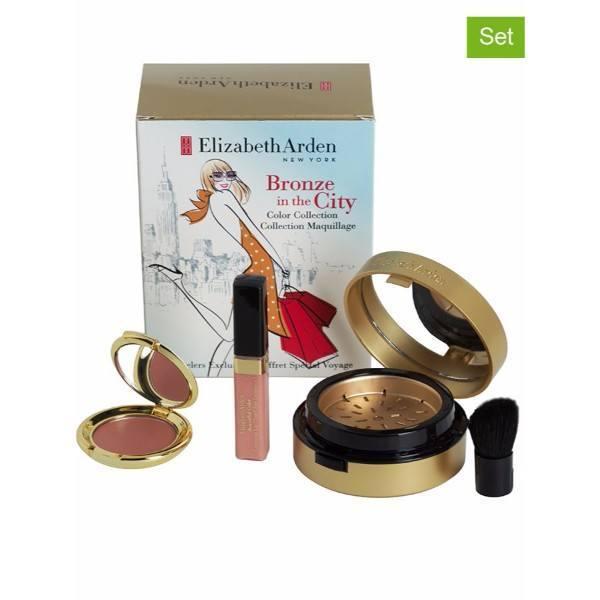 Elizabeth Arden Bronze In The City Kit 7,7gr - Set Bronzer Pure Finish Mineral Bronzing Powder 7,7 G & Brush & Blush Ceramide Cream Blush 2,67 G & Beautiful Color Lip Gloss 4ml Medium