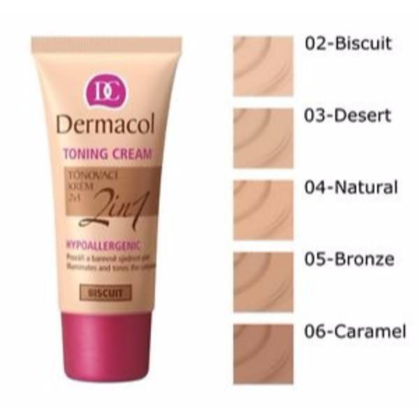 Dermacol Toning Cream 2in1 30ml All Skin Types Bronze