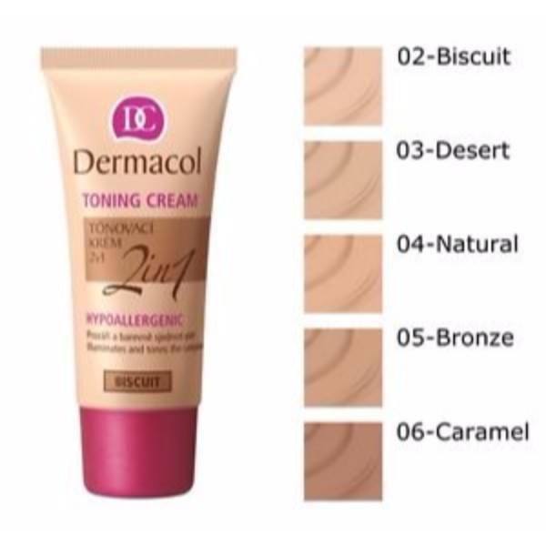 Dermacol Toning Cream 2in1 30ml All Skin Types Bronze oμορφια   πρόσωπο   κρέμες προσώπου