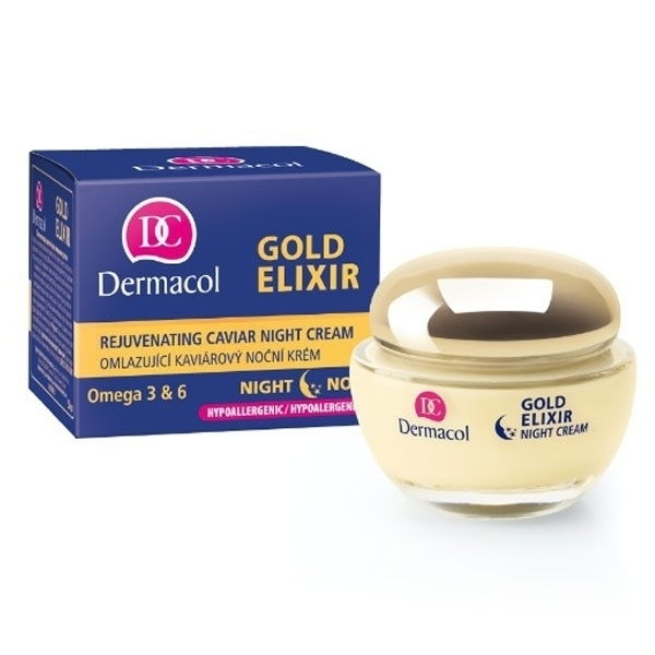 Dermacol Gold Elixir Night Skin Cream 50ml (Wrinkles - All Skin Types) oμορφια   πρόσωπο   κρέμες προσώπου