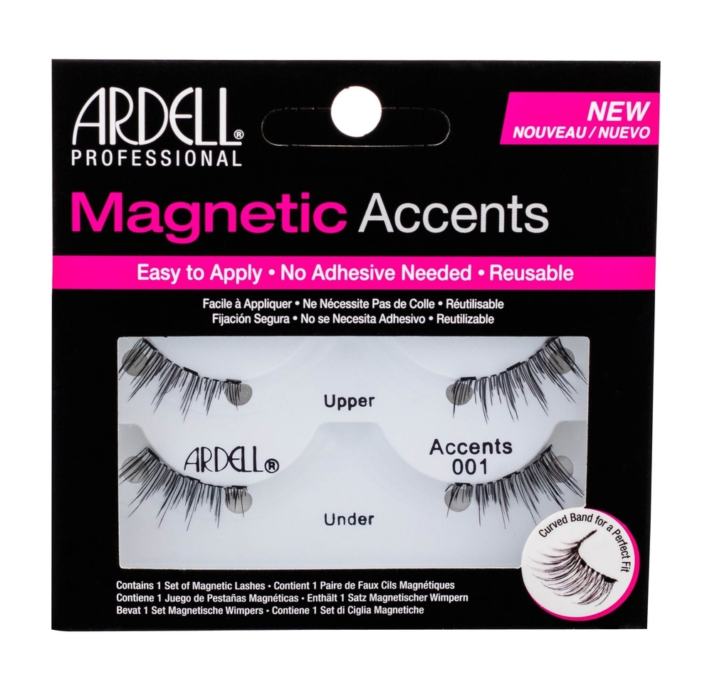 Ardell Magnetic Accents Accents 001 False Eyelashes 1pc Black