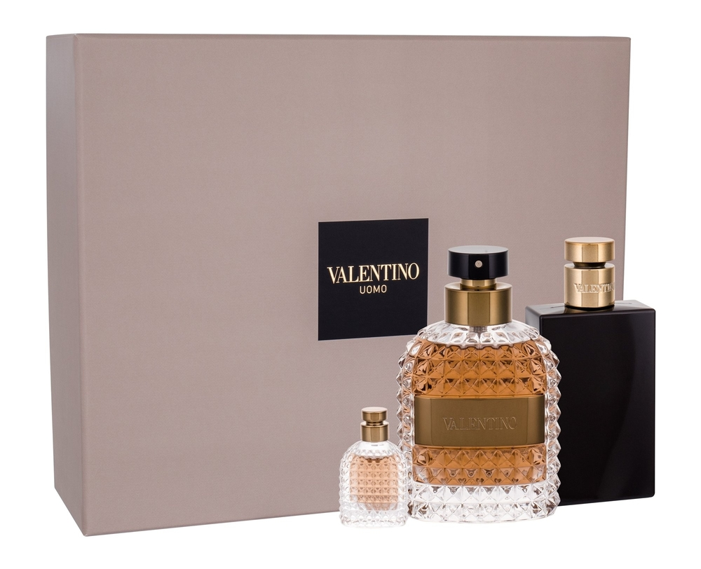 Valentino Uomo Eau De Toilette 100ml Combo: Edt 100ml + 100ml Aftershave Balm + 4ml Edt