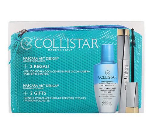 Collistar Art Design Mascara 12ml Extra Black Combo: 12ml Mascara Art Design + 50ml Gentle Two Phase Make-up Remover + Bag