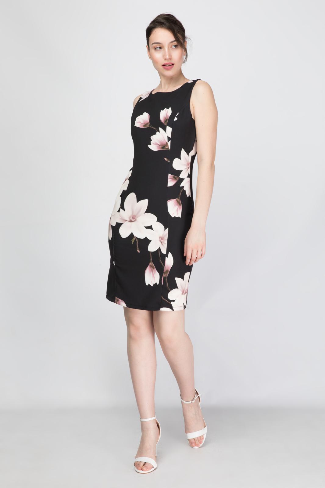4caed2f6000d Φόρεμα Pencil με Λουλουδάτο Σχέδιο
