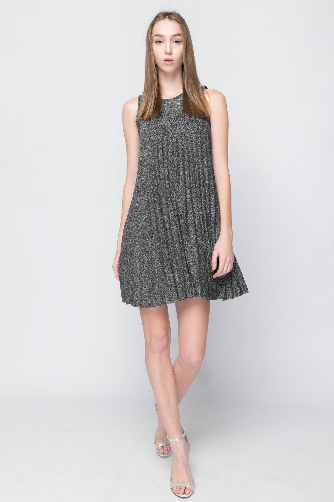 Φόρεμα Λούρεξ Α-Line - Silver